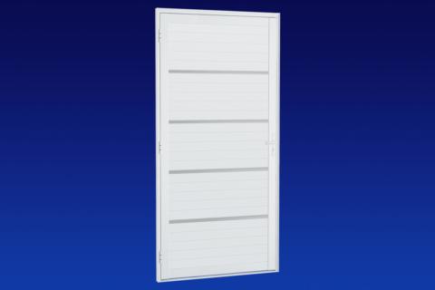 MIC Alumic - Porta Lambri Com Frisos Cromados