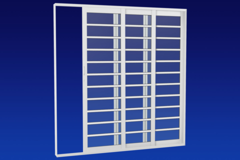 MIC Alumic - Porta de Correr - 2 Estágios Com Divisão Horizontal