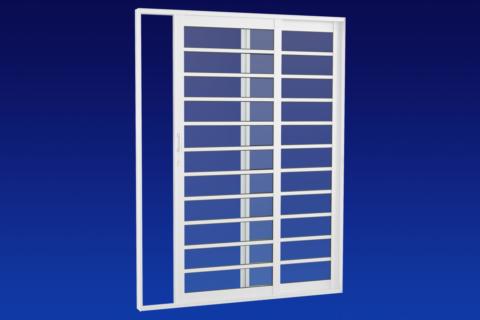 MIC Alumic - Porta de Correr Lateral Com Divisão Horizontal