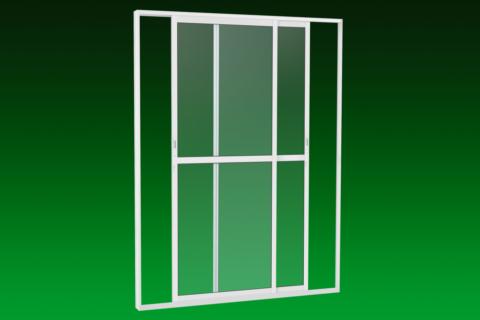 MIC Light Alumic - Porta de Correr Lateral - 2 Folhas Móveis