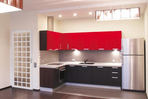 Cozinha com Porta Quadriculada Para Vidro - MIC Extra