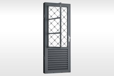 MIC Extra - Porta Com Postigo Painel Laminado Grade Xadrez