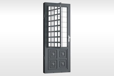 MIC Fort - Porta Com Postigo 2 Almofadas Grade QJQ