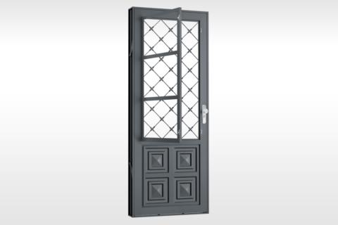 MIC Fort - Porta Com Postigo 2 Almofadas Grade Xadrez