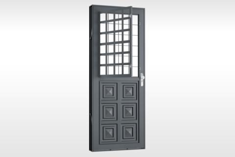 MIC Fort - Porta Com Postigo 3 Almofadas Grade QJQ