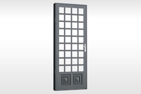 MIC Fort - Porta Para Vidro Quadriculada Com 1 Almofada