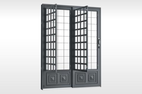 MIC Fort - Porta de Correr 160 - Com Postigo Grade QJQ