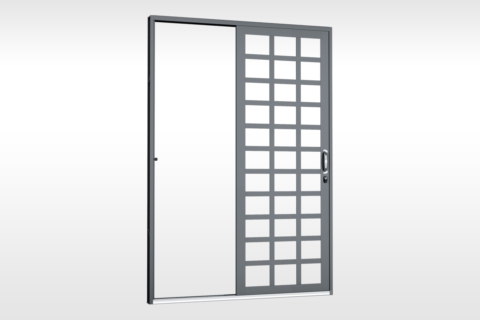 MIC Fort - Porta de Correr 160 Parede - Para Vidro Quadriculada