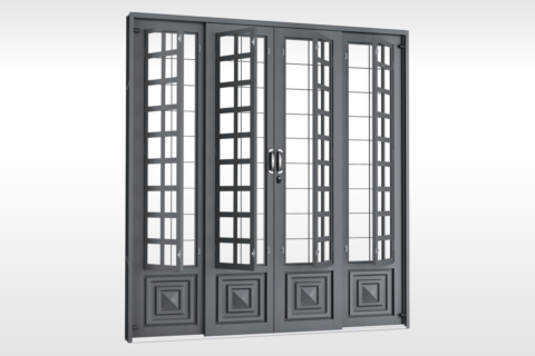MIC Fort - Porta de Correr 200 - Com Postigo Grade QJQ