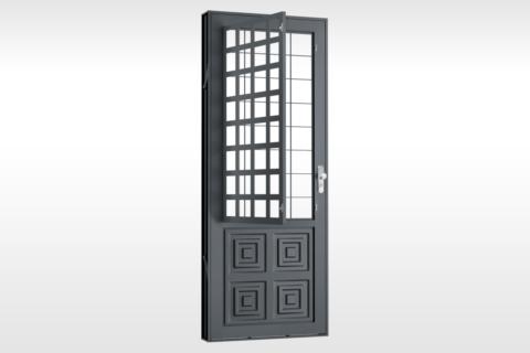 MIC Extra - Porta Com Postigo 2 Almofadas Grade QJQ