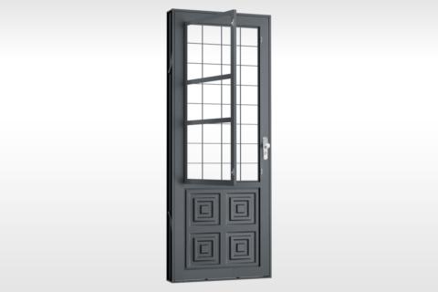 MIC Extra - Porta Com Postigo 2 Almofadas Grade Quadriculada