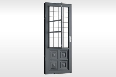 MIC Fort - Porta Com Postigo 2 Almofadas Grade Quadriculada