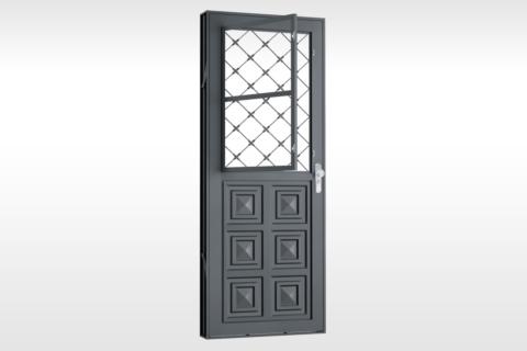 MIC Fort - Porta Com Postigo 3 Almofadas Grade Xadrez