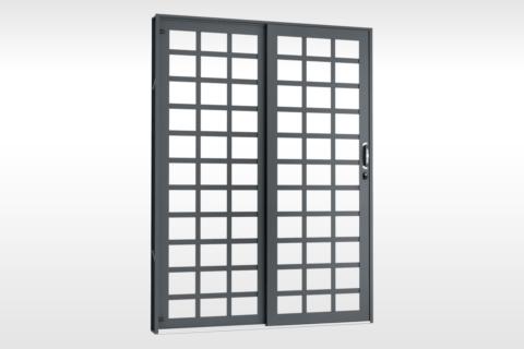 MIC Fort - Porta de Correr 160 - Para Vidro Quadriculada
