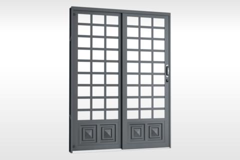 MIC Fort - Porta de Correr 160 - Para Vidro Quadriculada - Com 1 Almofada