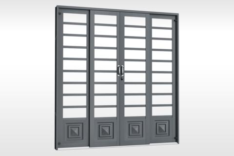 MIC Fort - Porta de Correr 200 - Para Vidro Com 1 Almofada
