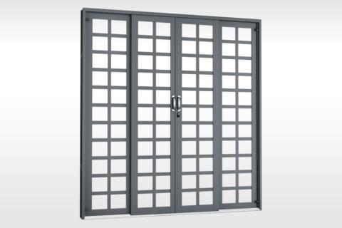 MIC Fort - Porta de Correr 200 - Para Vidro Quadriculada