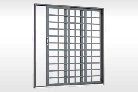 MIC Fort - Porta de Correr 2 Estágios Para Vidro Quadriculada