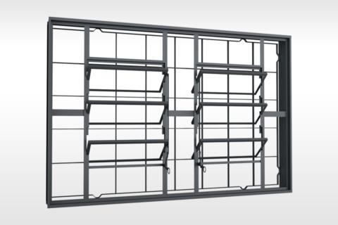 MIC Fort - Vitrô Basculante Grade Quadriculada 150x100