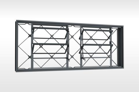 MIC Fort - Vitrô Basculante Grade Xadrez 150x60