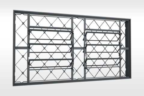 MIC Fort - Vitrô Basculante Grade Xadrez 200x100
